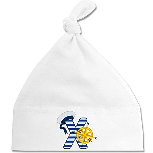 by - X Schifffahrt - Unisize - Weiß - BZ15 - Baby Mütze mit einfachem Knoten als Geschenkidee (Baby Sailor Hut)