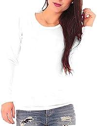 Elegance Women`s Plain Long Sleeve T-Shirt Crew Neck Tops(2214)