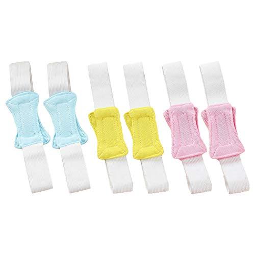 Kapmore 6 Stück Windelverschluss Baumwolle Elastisch Windelschloss Windelgürtel für Baby Windel