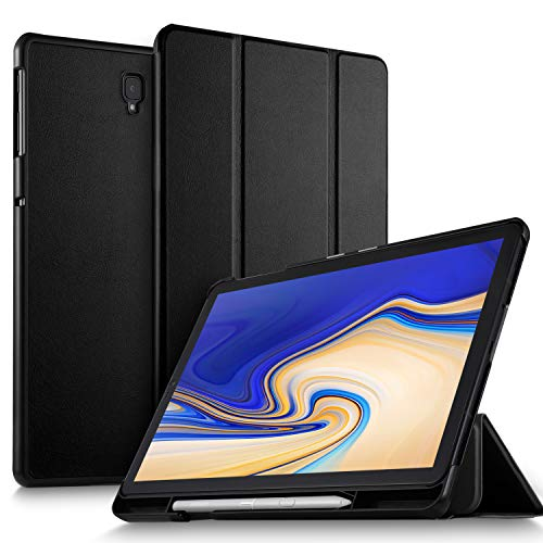 "ELTD Custodia Cover con portamatite per Samsung Galaxy Tab S4 SM-T830N/T835N 10.5, Auto Sleep Wake up/per Samsung Galaxy Tab S4 10.5"" SM-T830N/T835N 2018,Nero"