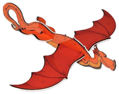alles-meine.de GmbH Styroporflieger -  Drache  - Flieger aus Styropor - grün Drachen Dragons zum Werfen Wurfgleiter z.B. für Kindergeburtstag