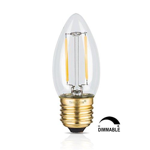 TAMAYKIM C35 2W Dimmerabile Filamento Lampadina LED Candela - 2700K