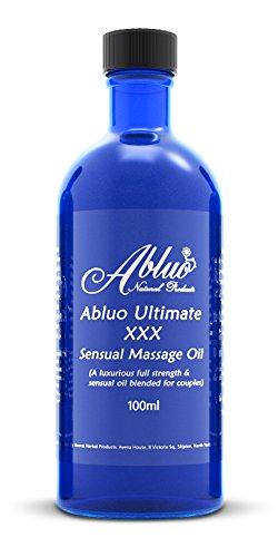 Abluo Ultimate XXX Sensual Massageöl 100ml: Natürlich mit voller Stärke Aphrodisiac Ätherische (Zubehör Weihnachten Klebrig)