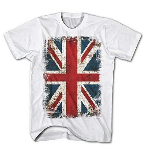 T-Shirt Union Jack Flagge Vintage Grunge Rock Stil England Kult