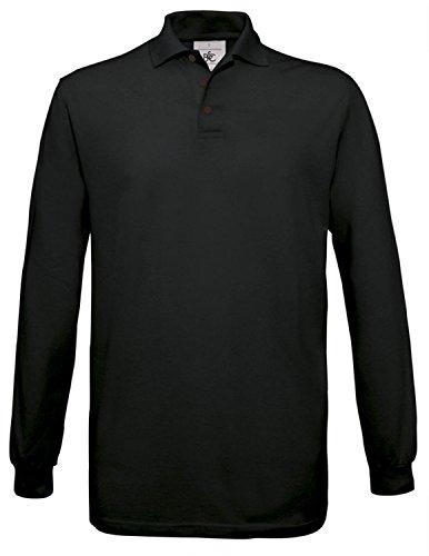 BCPU414 Polo Safran Longsleeve / Unisex Black