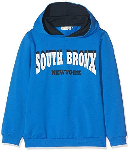 NAME IT Jungen Sweatshirt NKMVUGO LS Sweat WH UNB B, Blau (Strong Blue), 146 (Herstellergröße:146-152) Kinder Sweatshirt