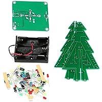 DIY 3D Weihnachtsbaum LED Kit Rot Grün Gelb LED Blitz Schaltung Teile Elektronische Lustige Suite Weihnachten Neujahr vorhanden