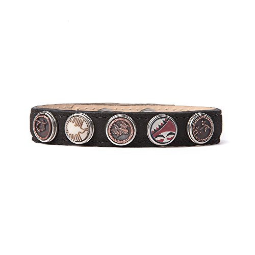 Noosa Armband Wrap Bracelet Petite Classic Skinny black, Größe:M