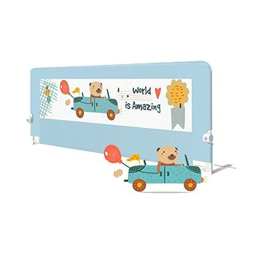 LYXPUZI Bettleitplanke 100% Baumwolle Babybett Leitplanke Baby Kind bruchsicher Zaun Bett Zaun Prall universal (Color : D, Size : 200X75cm)