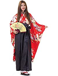 Japan Damen Geisha Samurai Kimono Outfit Kostüm S M 36 38 40
