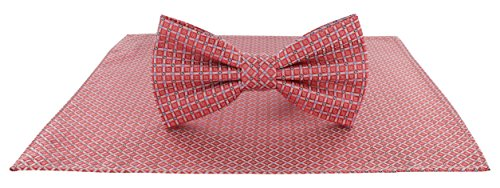 Michelsons of London Herren Set Einheitsgröße Gr. Einheitsgröße, korallenrot (Pocket Hankie-set Tie)