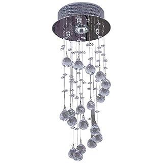 HOMCOM Deckenleuchte Kronleuchter Hängelampe Deckenlampe Kristall 1 x GU10 Sockel 50W