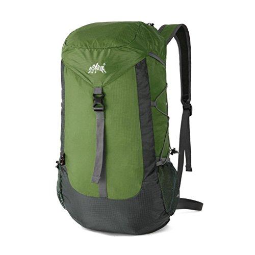 MCTECH 30L Zaino Trekking Usa come borsa da viaggio per Sportivo Outdoor per campeggio alpinismo arrampicata Viaggio Bicicletta (Army Green) Armee-Grün (ArmyGreen)