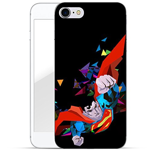 """finoo   iPhone 7 Plus Hard Case Handy-Hülle """"Superman"""" Motiv   dünne stoßfeste Schutz-Cover Tasche mit lizensiertem Muster   Premium Case für Dein Smartphone  Superman vector black Superman vector black"""