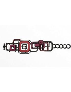 Batucada Armband PYTHAGORAS (Pythagore) - lila rot schwarz - (24017 | 12-01-02-01)