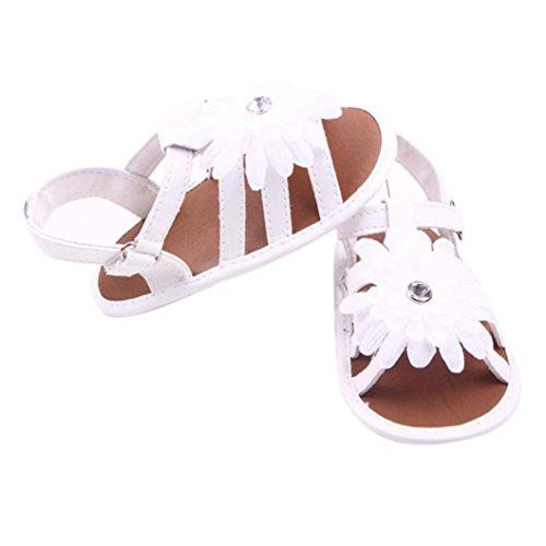 Pour 0-18 mois Bébé,Transer ® Joli bébé filles fleurs solides sandales Blanc