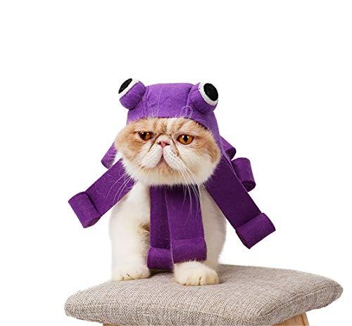 Saino Haustier Kopfbedeckung Halloween Kopftuch Festival Krawatte Katzen -