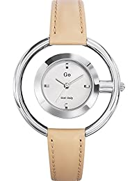 Go Girl Only–698662Damen-Armbanduhr 045J699Analog silber–Armband Leder beige