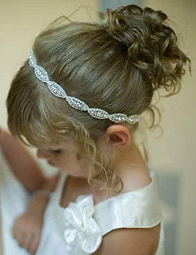 Missgrace Haarband für Mädchen, mit Strasssteinen, Gatsby-Stirnband, Hochzeits-Haar-Zubehör für Festivals, besondere Feiertage, Halloween.