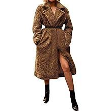 Chaqueta Suéter Abrigo Jersey Mujer, Chaquetas Pelo Sintético Abrigo de Lana Abrigo de Lana Artificial