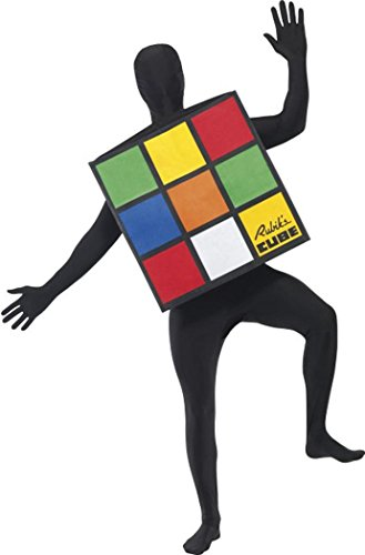 Smiffy's Rubik's Cube Unisex Costume. You'll be instantly recognisable in this officially licensed outfit. Ideal for 80s themed parties and events.