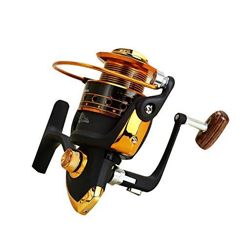 Fanvone-YL Spinning Angelrolle Lager 12 + 1BB Angelrolle Axt ohne Abstand Rocker Reel Angelschnur Spinnrad Rolle für Salzwasser und Süßwasser (Größe : 4000) -