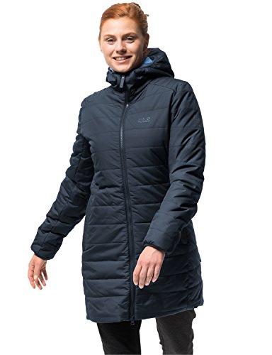 Jack Wolfskin Damen Maryland Coat Steppmantel Winddicht Wasserabweisend Atmungsaktiv Mantel, Blau (midnight blau), S