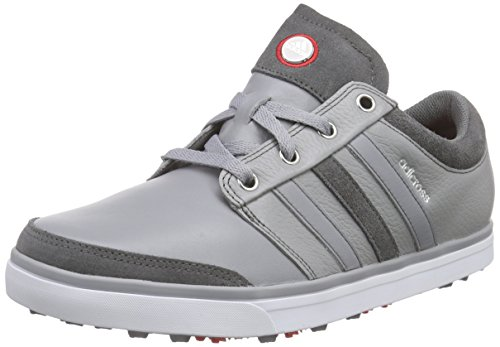 adidas Adicross Gripmore - Zapatos de golf para hombre, color gris / blanco, talla 44.6