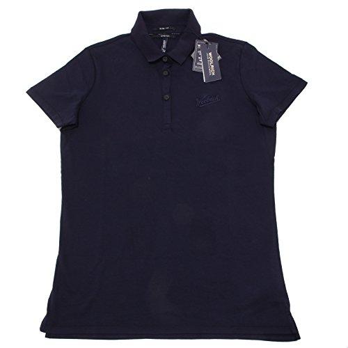 3311o-polo-manica-corta-woolrich-blu-maglie-donna-t-shirt-women-m