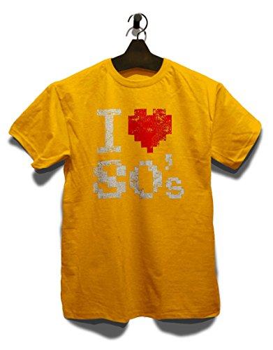 I Love 80S Vintage T-Shirt Gelb