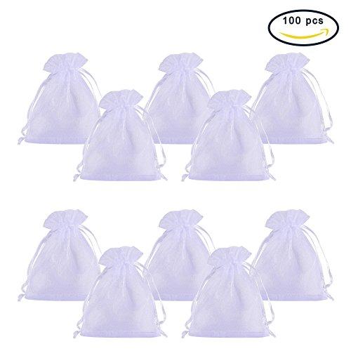 + Pandahall 100PCS Sacchetti ORGANZA Sacchetti Regalo Sacchetti Portaconfetti Borse Gioielli, Colore Bianco, 8x10cm lista dei prezzi