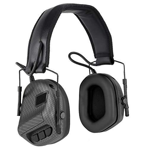 DETECH IPSC Headset Kopfhörer Elektronisches Schießen Gehörschutz Schallverstärkung Rauschunterdrückung Gehörschutz Jagdschießen Gehörschutz