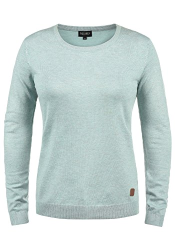 DESIRES Edda Damen Strickpullover Feinstrick Pullover Mit Rundhals, Größe:L, Farbe:Slate Gr (3579M) - Cashmere-strickjacke Leder