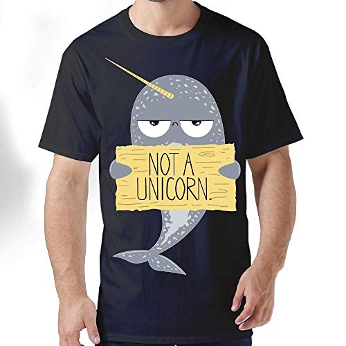 Men's Short-Sleeve T-Shirt I M Not A Unicorn Narwhal Graphic T-Shirts