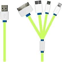 Original iProtect® Universal USB Ladekabel u Datenkabel Adapter für Apple iPhone, iPod , iPad und alle Geräte mit MicroUSB Anschluss (USB 2.0/3.0) von Sony, LG, Huawei, Samsung, HTC usw. in grün