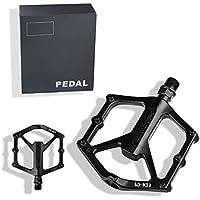 PROMEND Fahrradpedale Mountainbike Pedale MTB Pedale Auftrittsfläche aus Aluminiumlegierung Trekki