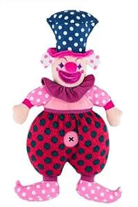 Histoire d'Ours - Poupée tissu Drôle de clown rose Pépita (38 cm) - multicolore