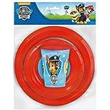 Paw Patrol La Patrulla Canina - Set value 3 piezas ( plato y cuenco value, vaso value 260 ml) (Stor 80710)