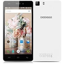 "Doogee X5 Pro - 4G Lte Smartphone libre Android 5.1 (HD Pantalla 5"", Quad Core, 64 bit, Dual Sim, 16GB, 2GB RAM, OTG, Smart Wake, Multi-Idioma) (Blanco)"