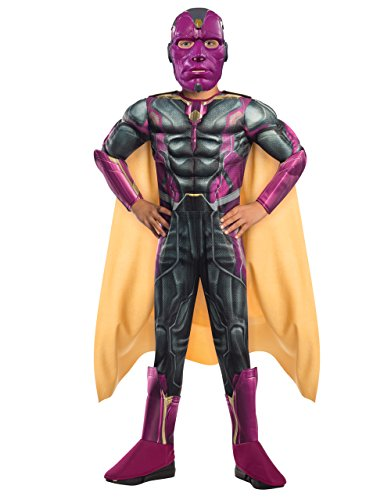 Vision Deluxe Kostüm, Kinder Avengers Age of Ultron Outfit, groß, Alter 8–10, Höhe ()