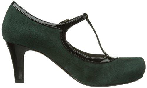 Clarks Chorus Thrill, Escarpins femme Vert - Grün (Dark Green Suede)