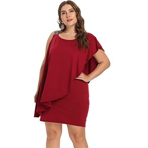 Sexy Kleider Frauen Bodycon Abendkleid Asymmetrische Plus Size -
