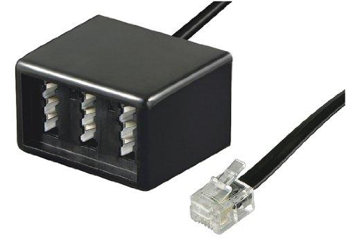 Rj11 Buchse Telefon (Wentronic Telefon Adapter (RJ11 Stecker auf TAE Buchsen NFF) schwarz)