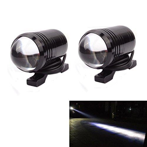 Sport family 2 x Motorrad LED Scheinwerfer 12V U2 LED Nebellicht Wasserdichte Arbeitslampe Weiß