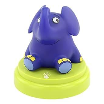 LED-Nachtlicht Elefant von ANSMANN / Süße Einschlafhilfe mit sanftem Licht & Berührungssensor für Tiefschlaf & Orientierung bei Dunkelheit / Die Sendung mit der Maus / Von jungen Eltern empfohlen
