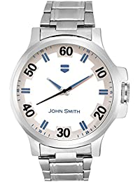 John Smith White & Blue Dial Metal Belt Analog Watch For Men - JS-10101BLUE_N