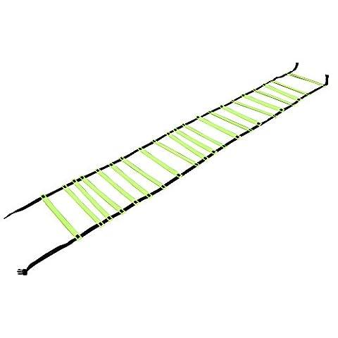 Formation d'Agilité de vitesse Kosma Footwork rapide de l'échelle de 8 mètres de long avec sac   Échelle de vitesse d'entraînement de football pour