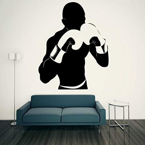 55x65cm, Wandaufkleber, Weihnachtswandaufkleber, Boxer Boxhandschuhe Sport Boys Design Gym Sports Club Schlafzimmer Aufkleber Wandbild Schlafzimmerpflege Jugendaufkleber