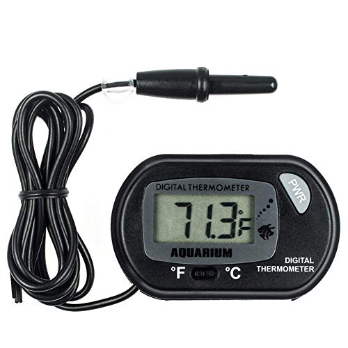 Tianzhiyi Heimtemperaturtest Aquarium Thermometer Digitales Wasserthermometer für Aquarienaquarien Meerestemperatur -