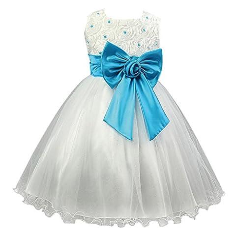Costumes Princesse Tiana Robes - Fantast Costumes Robe Rose Filles Bow Fleur